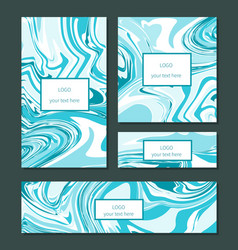 Liquid swirls handmade texture business cards vector