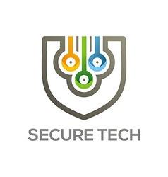 Logo emblem set Conecting symbol vector