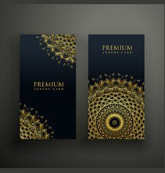 Luxury mandala cards design template vector