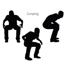 Man in Jumping pose on white background vector