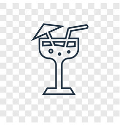margarita concept linear icon isolated on vector image
