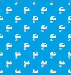 mixer kitchen pattern seamless blue vector image