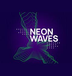 Neon edm flyer electro trance music techno dj vector
