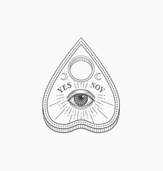 ouija planchette with eye providence witch vector image