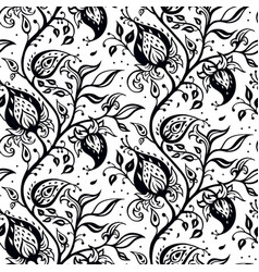 Paisley background hand drawn ornament vector