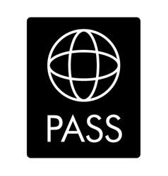 Passport solid icon document vector