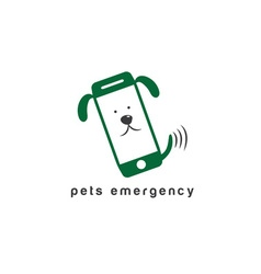 pets emergency concept flat design vector image