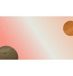planet space nature landscape vector image