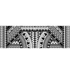 Polynesian ethnic pattern vector