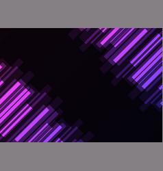 purple bar overlap in dark background vector image
