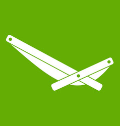 Recliner icon green vector