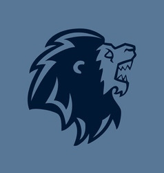 Roaring Lion Head Line Art vector