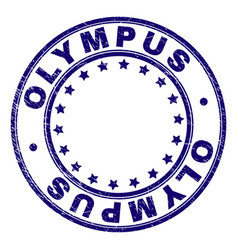Scratched textured olympus round stamp seal vector
