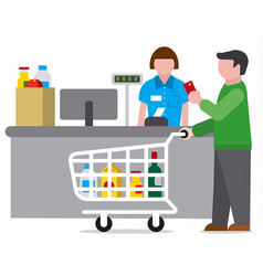 Shopping food supermarket vector