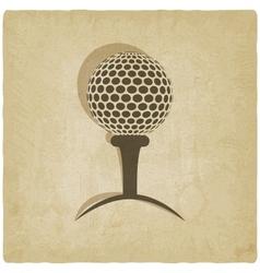 Sport golf logo old background vector