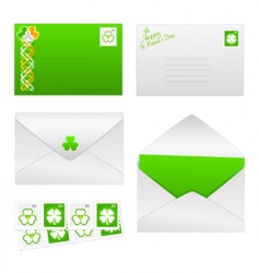 St Patrick's day envelopes vector image
