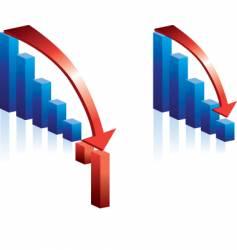 Stock falling vector