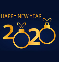 symbols beginning new 2020 year vector image