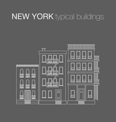 The typical buildings of new york city vector