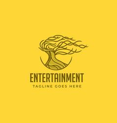 tree entertainment logo vector image