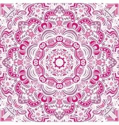 vintage pink mandala background vector image