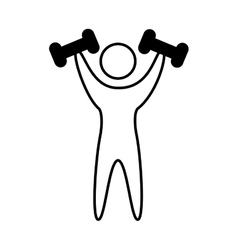 weight lifting athlete silhouette vector image