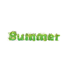 word summer with capital vector image