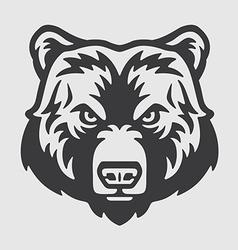 Bear head logo mascot emblem vector