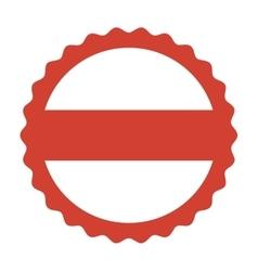 circle seal frame icon vector image