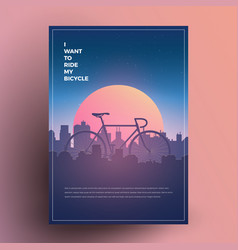 i want to ride my bicycle vector image