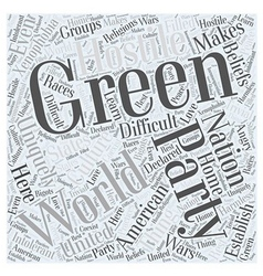 What is the Green Party Word Cloud Concept vector image vector image