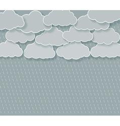 abstract rainy sky vector image vector image