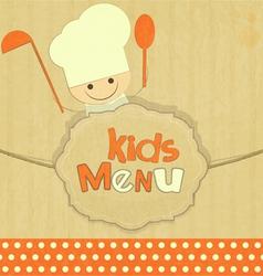Design of kids menu vector image vector image