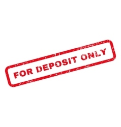 For Deposit Only Text Rubber Stamp vector image