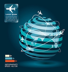 infographic airplane network concept vector image vector image