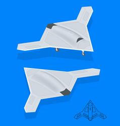 isometric long range strike-bomber aircraft vector image vector image