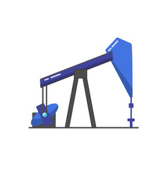 Oil rig icon in flat style vector