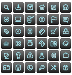 Stencil buttons for websites vector image