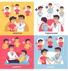 diagnosis illnesses conceptual composition vector image vector image