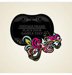 Elegance vintage frames for your text vector image