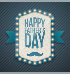 happy fathers day light banner with ribbon vector image