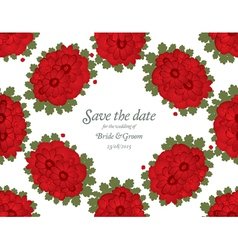 Save the date wedding invitation card template vector image vector image