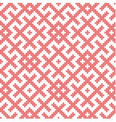 seamless traditional russian slavic ornament vector image