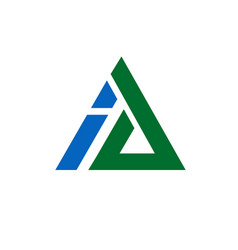 ai triangle letter vector image vector image