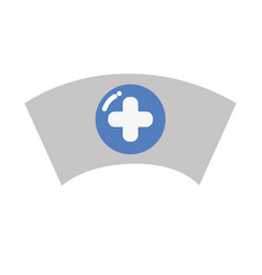 nurse hat element that used in the hospital vector image
