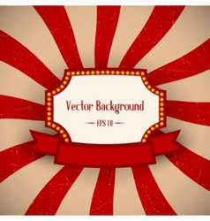 Red Retro Background vector image vector image
