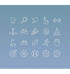 set of 20 icons and sign in mono line style vector image vector image