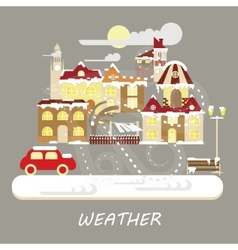 Winter snowstorm weather vector image