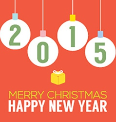 2015 Happy New Year Card vector