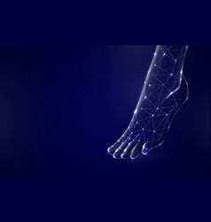 3d human feet from lines triangles and particle vector image